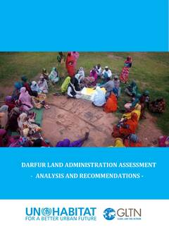 Darfur Land Administration Assessment: Analysis and Recommendations cover