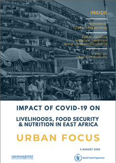Impact of COVID-19 on livelihoods, food security & nutrition in East Africa. Urban focus - cover