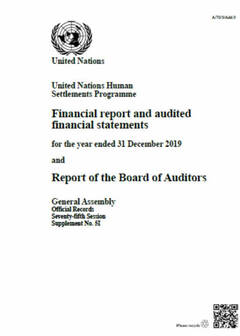 2019 UN-Habitat Audited Financial Statements
