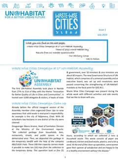 Waste Wise Cities Campaign Newsletter 1