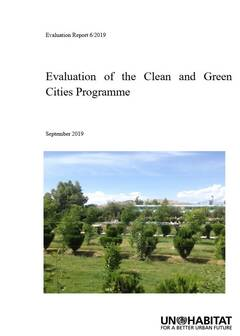 Evaluation of the Clean and Green Cities Programme (6/2019)