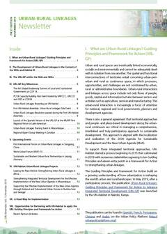 Urban-Rural Linkages Newsletter, Issue 1