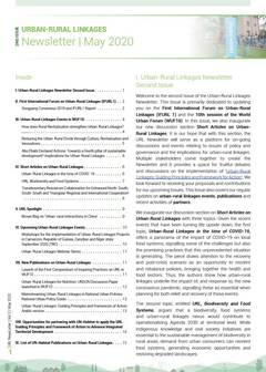 Urban-Rural Linkages Newsletter, Issue 2