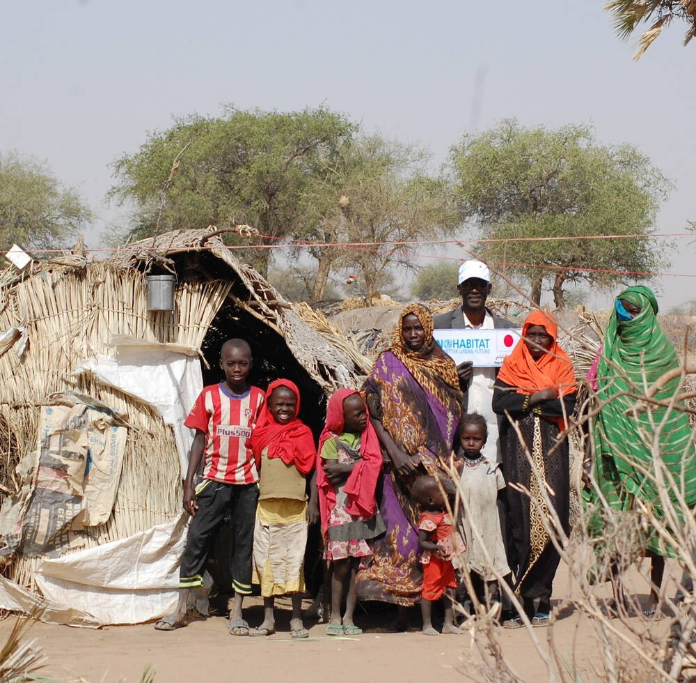 UN-Habitat visits the IDPs family in South Darfur.