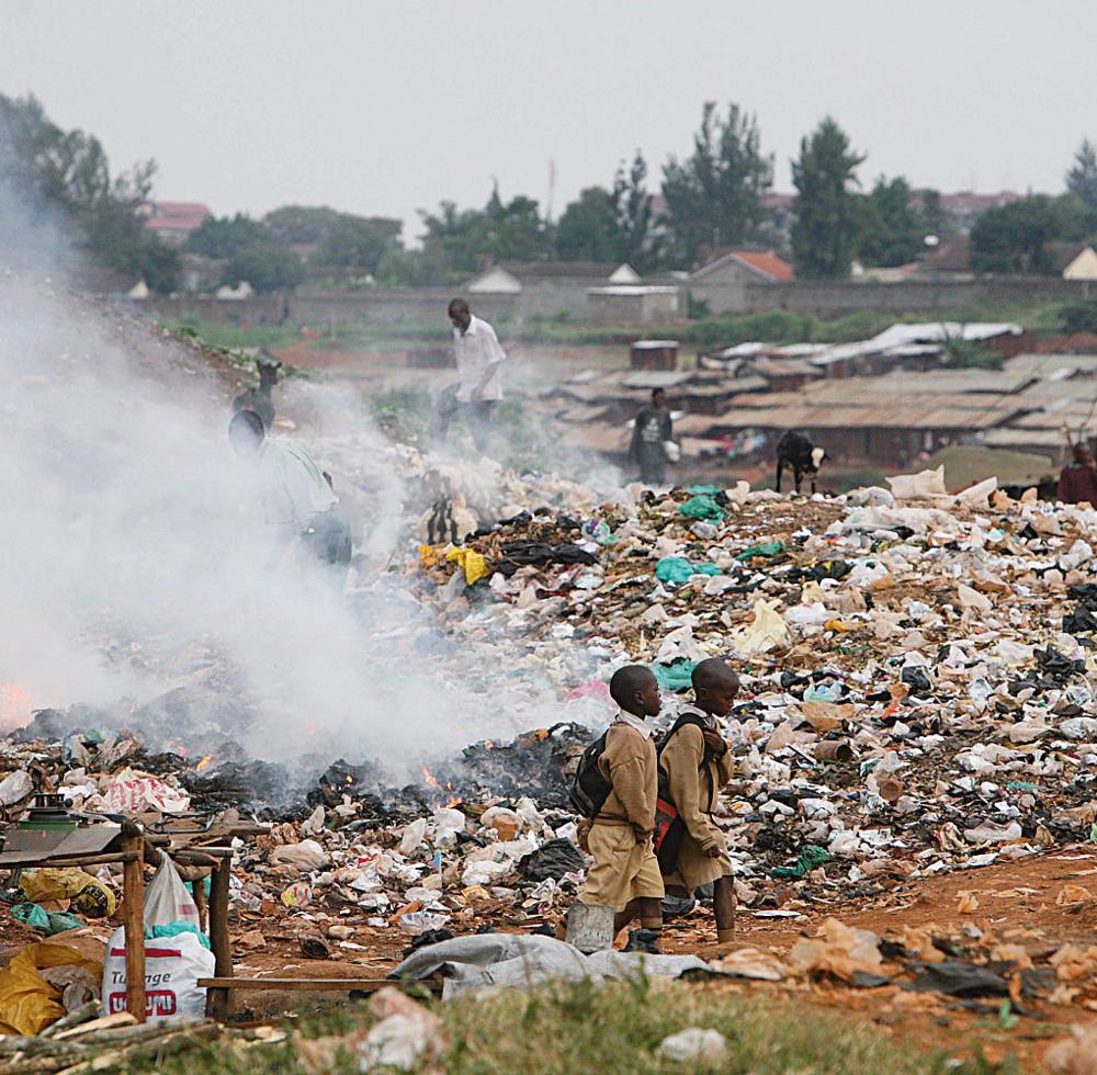 Scenery of a dumpsite in Kenya.