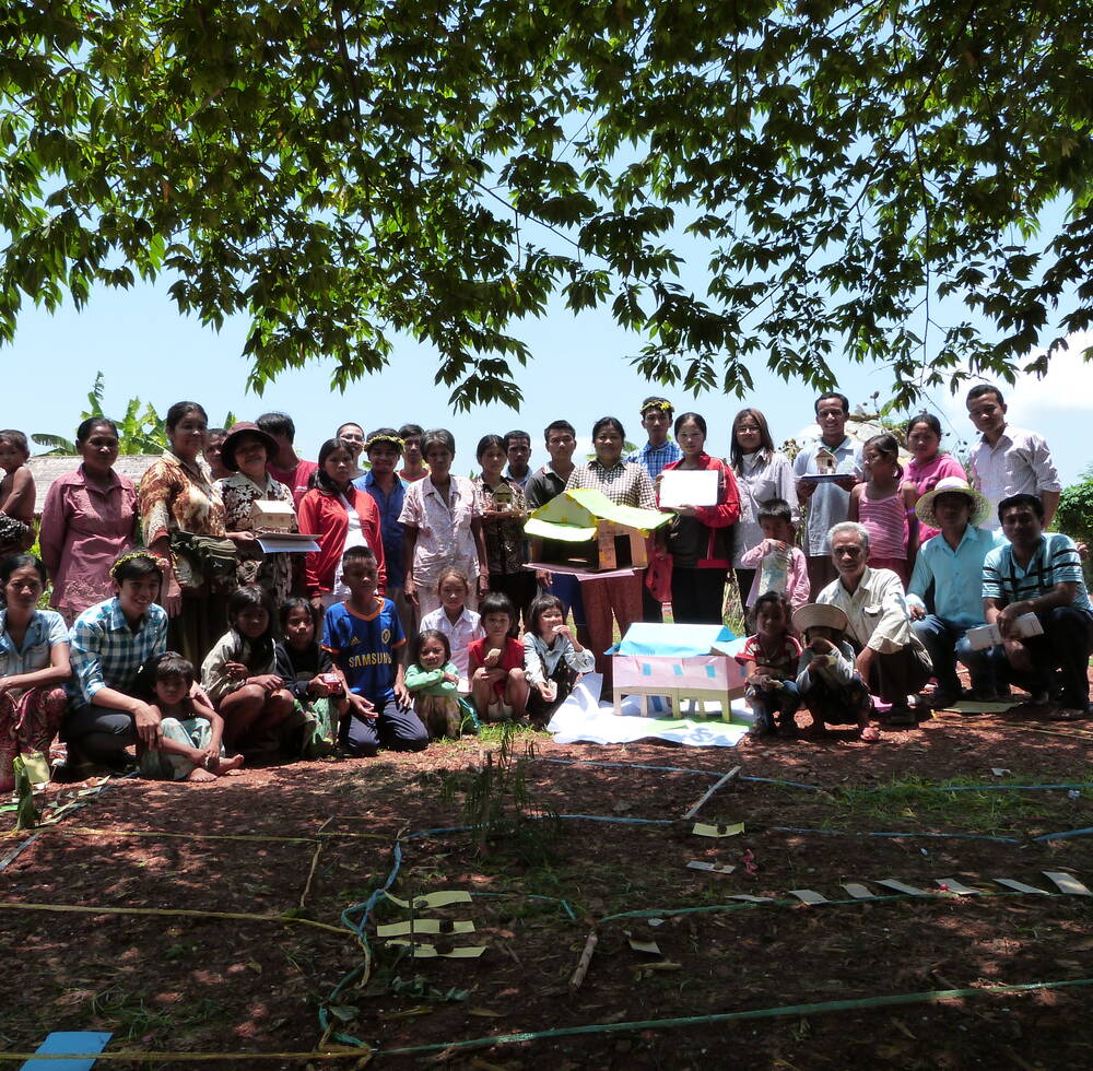 "The community members design their ""dream house"" , 2014, UN-Habitat Cambodia"