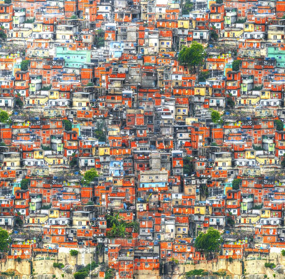Colourful cluster of houses