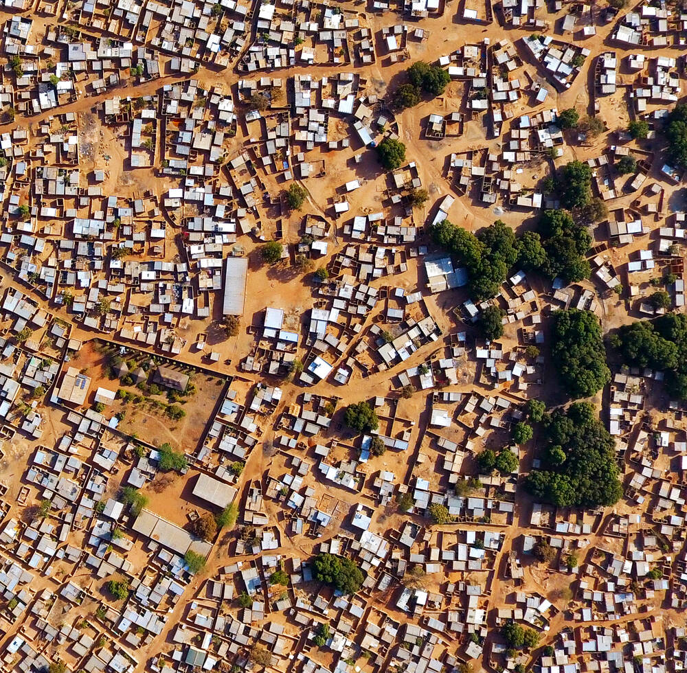 Aerial view of Bobo, Burkina Faso