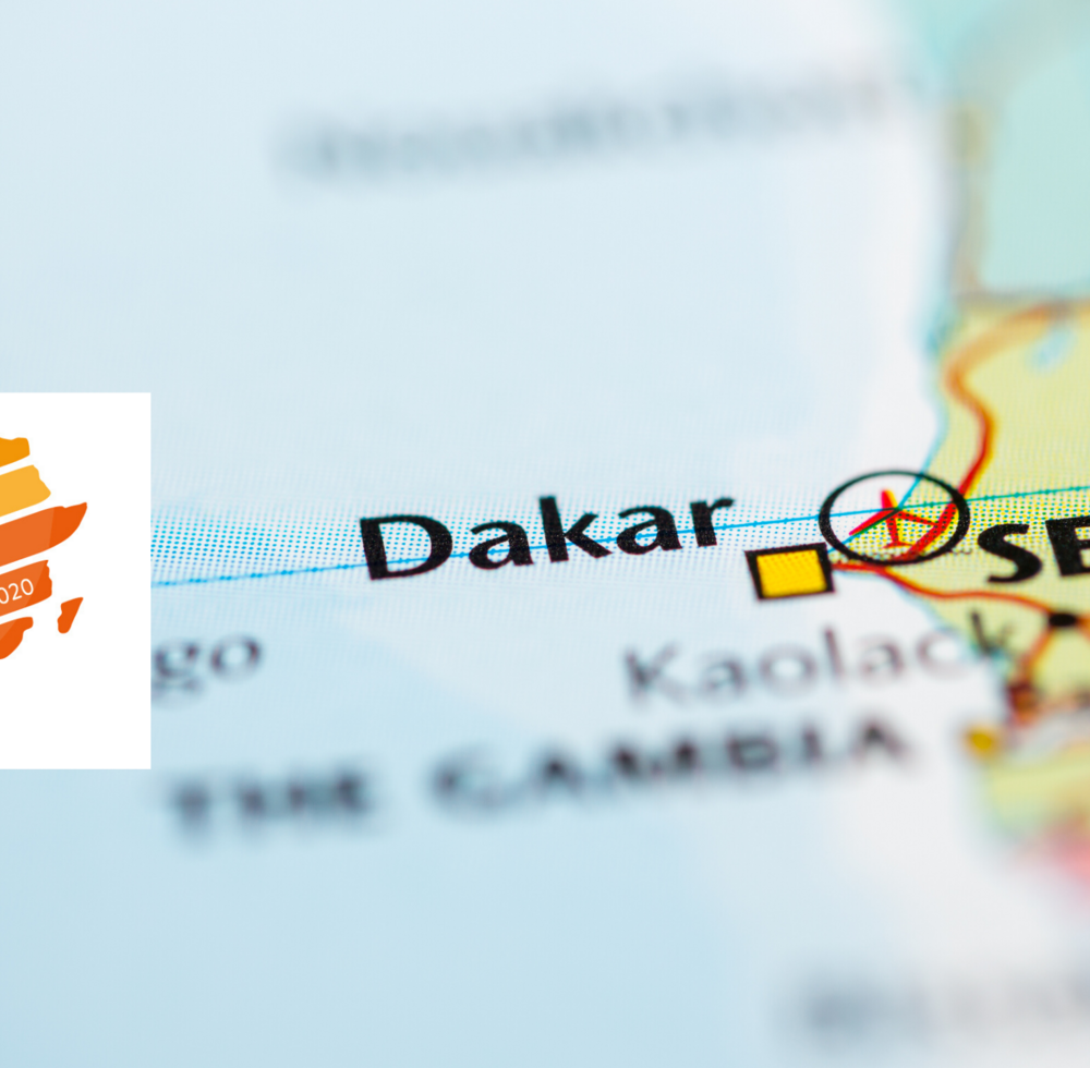 Map showing Dakar