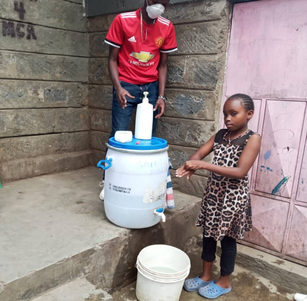 Facilities set up by Kenyan youth group to protect against COVID-19 top 8000 handwashes