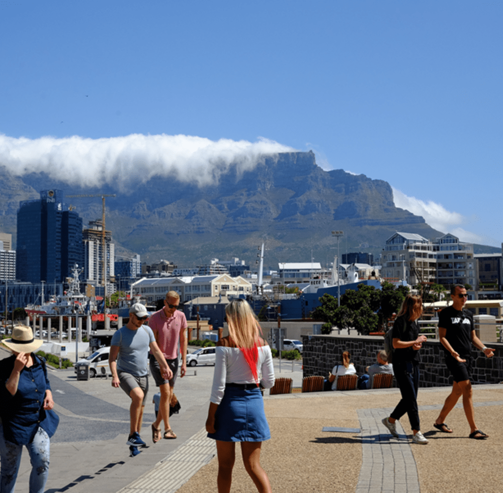 Overview of Cape Town, South Africa