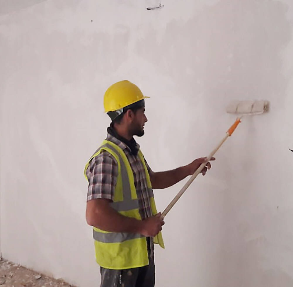 Mohammed Madi Ahmad, skilled labourer from a rural town of Yathrib, Iraq, was fortunate to be able to earn salary during the COVID-19 outbreak thanks to ongoing EU-funded house rehabilitation project. 28 April 2020, Yathrib, Iraq