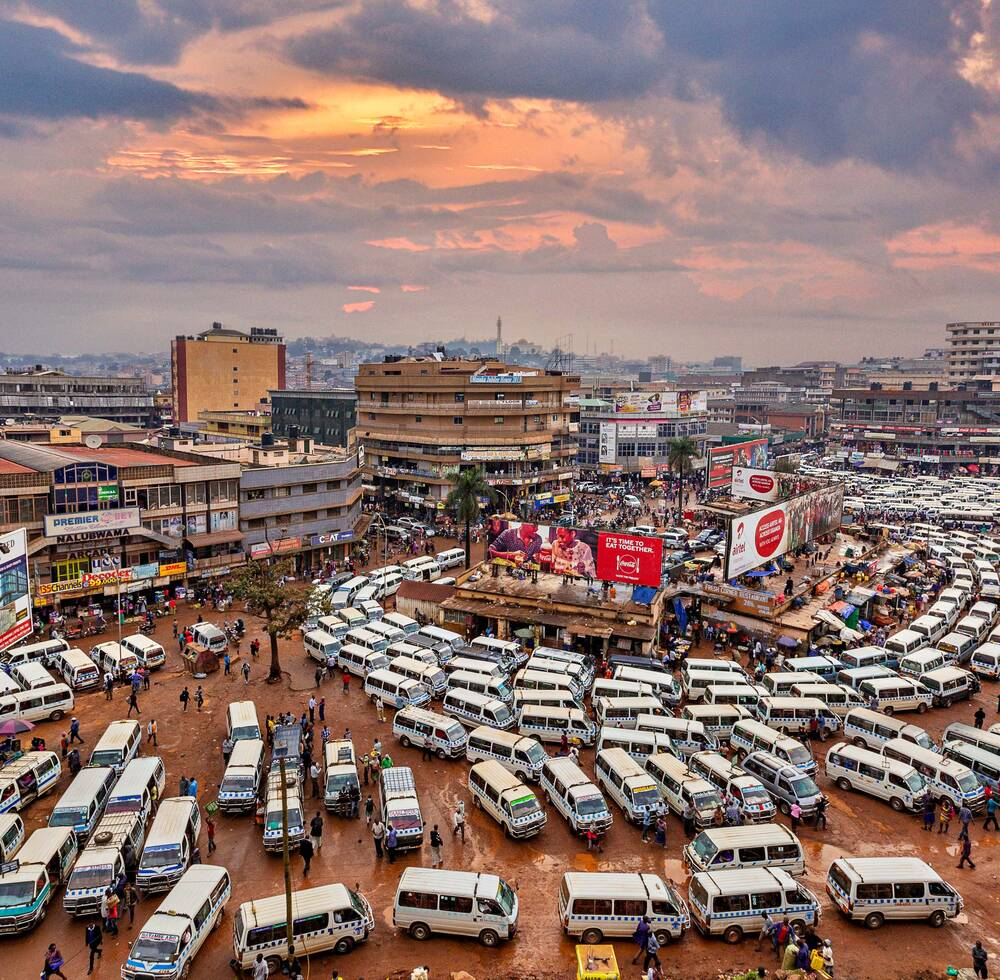 View over the central bus station in Kampala, Uganda [Shutterstock/Mehmet]