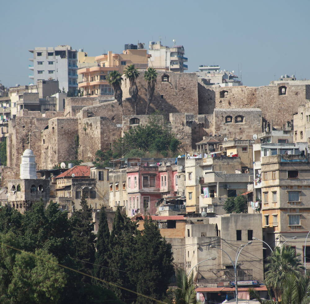 Citadel of Raymond de Saint-Gilles on a hilltop in Tripoli, Urban Community Al-Fayhaa