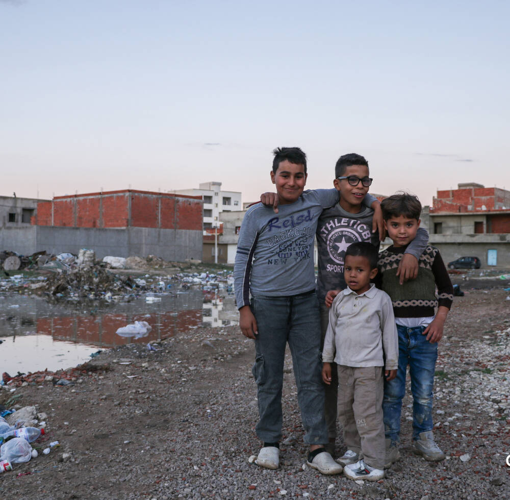 Young migrants, Kairouan, Tunisia