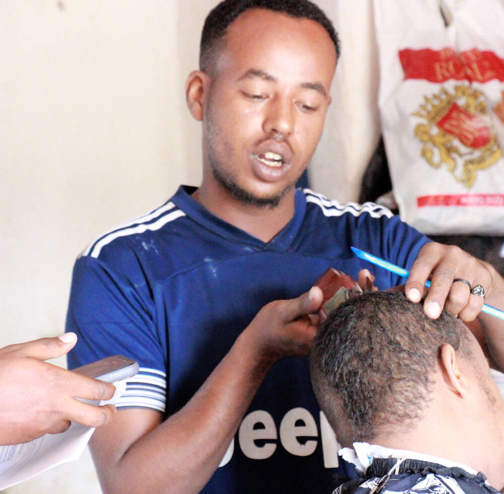 Barber turning heads in Berbera, thanks to EU funded cash transfer programme