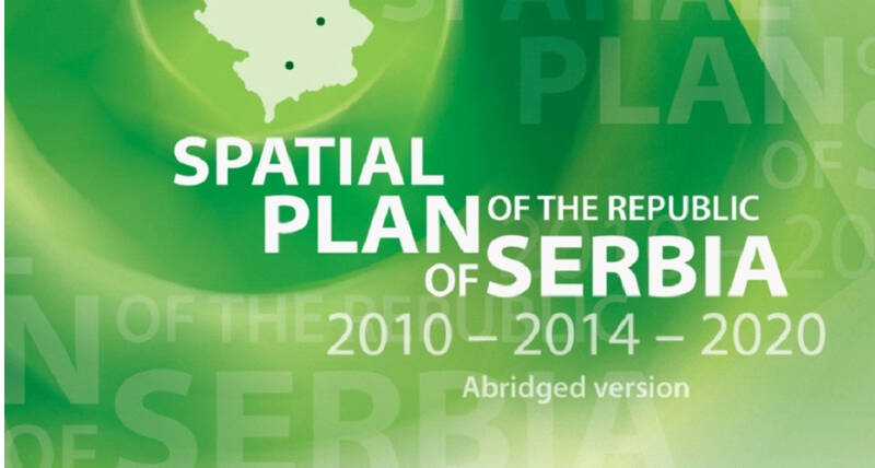 book cover of Serbia's National SPatial plan