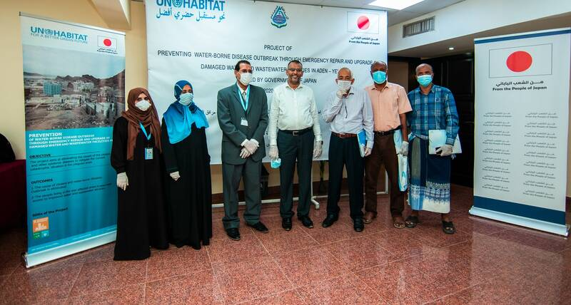 Representatives from UN-Habitat, local authority and different sectors in Aden-Yemen