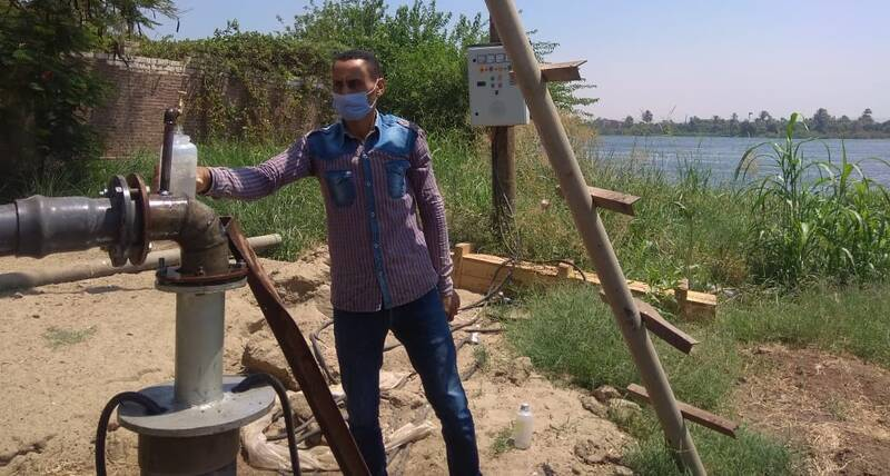 Water quality testing from test well in  Abu Tig, Assiut, July 2020