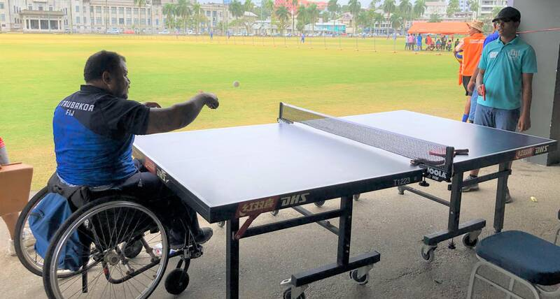 Inclusive sports - table tennis at World Cities Day event in Fiji