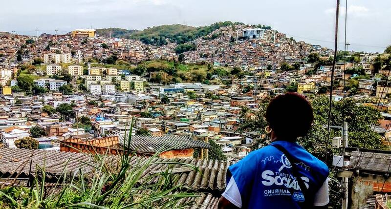 UN-Habitat's field agent at Complexo Do Alemão Slum, Rio de Janeiro before starting the search for vulnerable families in 2019