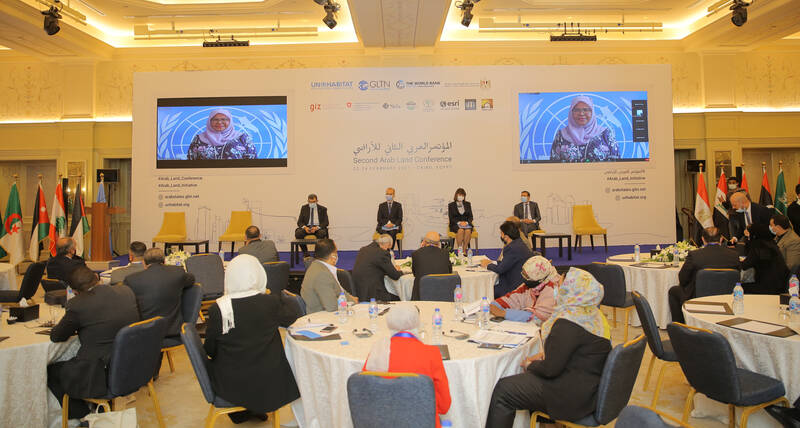 Conference discusses development progress in the Arab region through good land governance and increased land tenure security