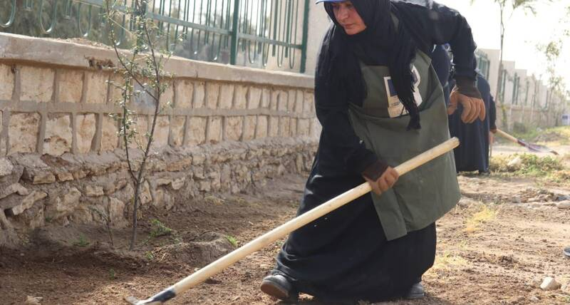 Mosul - Al Yarmouk Park - Ms Nafla the gardener 1