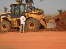Levelling of Laterite fill