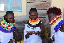 Local Turkana women share a la