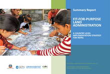 Summary Report- Fit-For-Purpose Land Administration- A Country Level Implementation Strategy for Nepal - Cover image