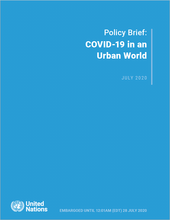 Policy Brief: COVID-19 in an Urban World - cover