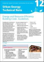 Urban Energy Technical Note 12: Energy and Resource Efficiency Building Code. Guidelines - cover