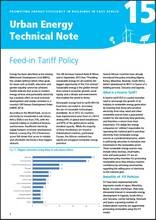 Urban Energy Technical Note 15: Feed-in Tariff Policy - cover