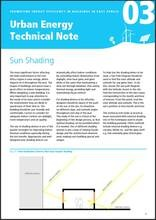 Urban Energy Technical Note 03: Sun Shading - cover