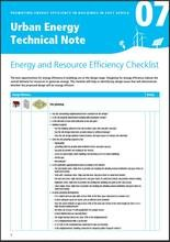 Urban Energy Technical Note 07: Energy and Resource Efficiency Checklist - cover